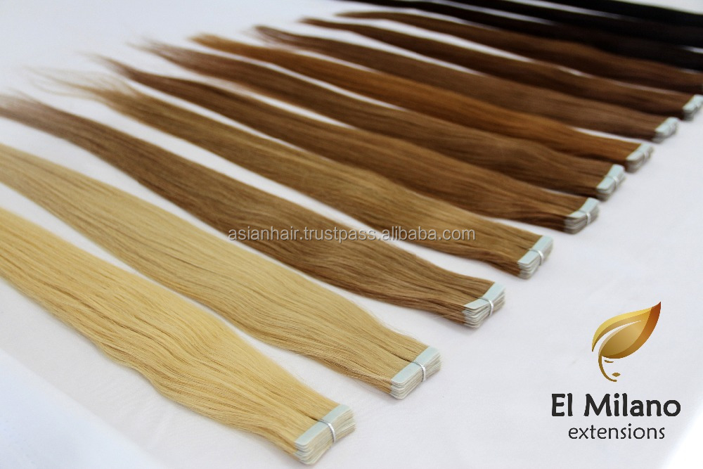 Golden Supplier Skin Weft PU Glue Pure Human Virgin Tape Hair Extensions