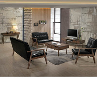 MODERN LIVING ROOM SET WITH SOLID