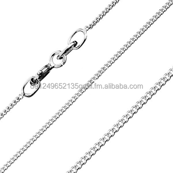 Curb chains Brand new 925 sterling silver 16 18 20 22 24 26 28 30 inch - 0.60 mm necklaces