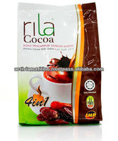 Wholesale Supply In Bulk RILA Coco Chocolate Drink Powder Supply vol 1kg Pouch Pack Extra Chocolate Taste Antioxidant Drink