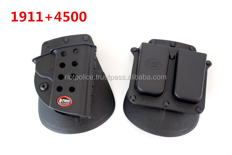 Tactical M9 1911 Holster double magazine paddle Right-hand style holster with a double clip