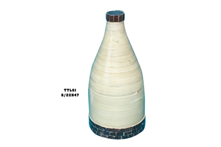 Vietnam inlaid coconut eco-friendly bamboo vase low price new design 2015 ( Skype: jendamy, whatsapp/viber: +84 914542499)