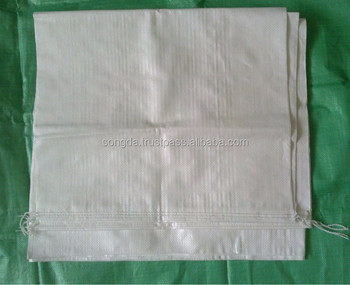 White/green PP woven sacks - high quality competitive price
