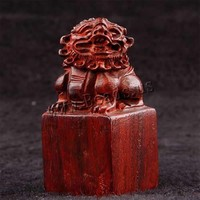 26x57mm Carved Pterocarpus Santalinus Stamp Decoration
