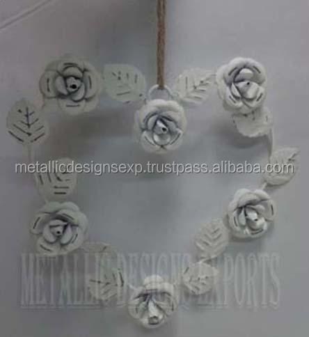 Metal Christmas Heart Shape Rose Hanging Ornaments Exclusive of 2015