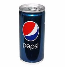 Pepsi soft drink in Arabic label