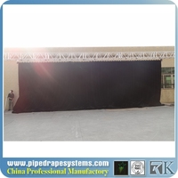 wholesale pipe and drape, black stage background curtains for trade exhibition