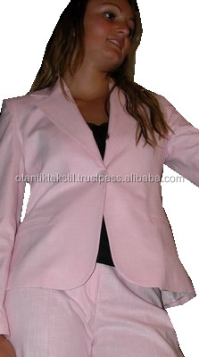 Women suit, jacket and trousers over stck