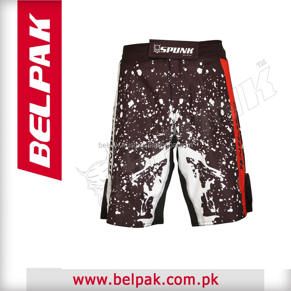 Wholesale custom design high quality make your own mma shorts with sublimation