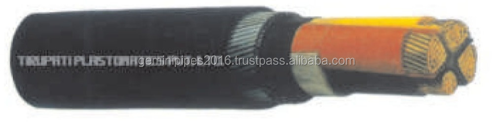 Four Core Cable With Reduced Neutral CU PVC PVC SWA PVC Power Cable 600 to 1000 V