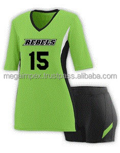 Volleyball Uniforms - Wholesale 100%Polyester sleeveless custom volleyball uniforms for men/cheap black&parrot