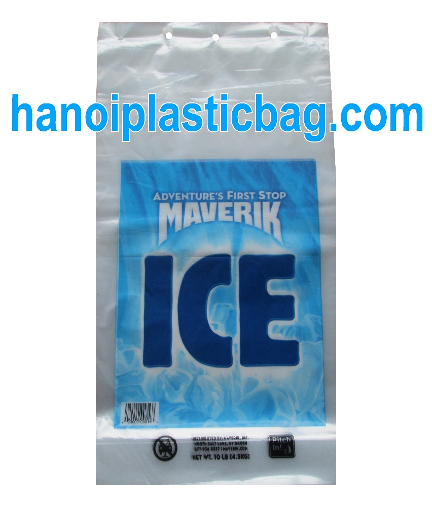 BLOCK HEAD CLEAR POLYETHYLENE BAG vietnamese manufactory