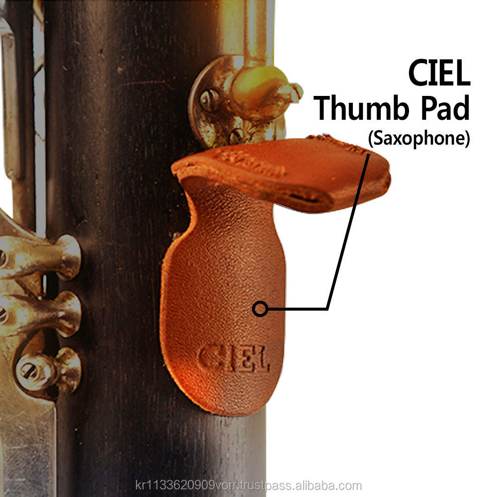 CIEL Thumb Pad Finger Rest Protect Genuine Leather Key Accessories for Saxophone
