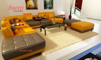 L-Shaped Corner 2016 Fabric Leather Upholstered Sofa Set Price Usd 1600 from India