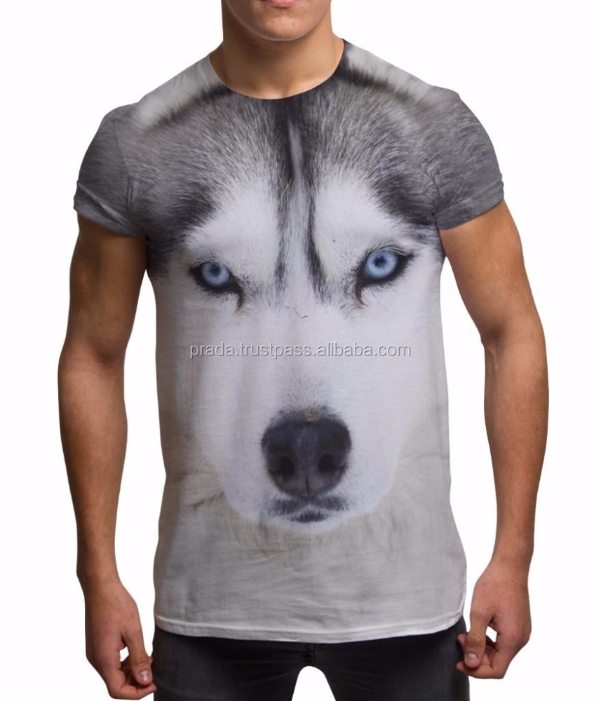 digital sublimation printed t shirt,3d logo sublimation printed t shirt,animal printed 3d t shirt