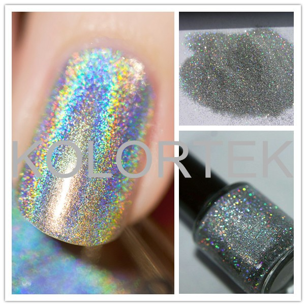 How Does Powder Nail Polish Work: 2017 Unicorn Powder For Nail Polish, Holographic Chrome