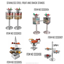 Stainless Steel Tableware Fruit Salad and Snacks Stands - Counter Displays