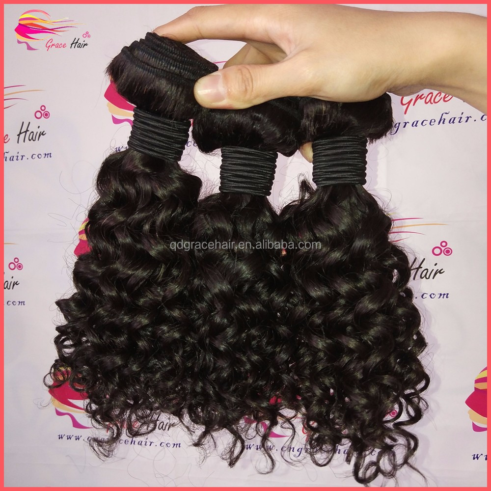 Wholesale brazilian virgin hair 100 human hair extensions