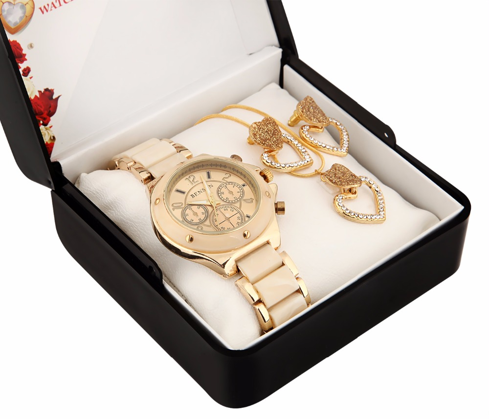 BENSON watch and jewellery set