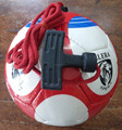 PU soccer ball with string and handle, 32 panel, hand stitched soccer ball