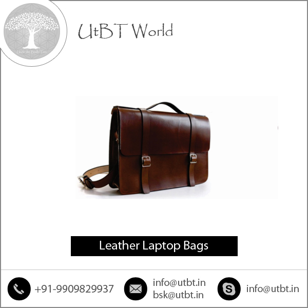 High Capacity Premium Quality Cow Hide/ Buffalo Hide Leather Laptop Bags Low Prices