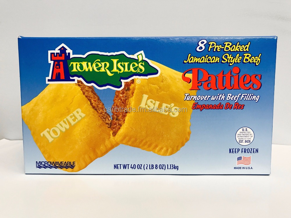8 Pack Mild Jamaican Style Patties