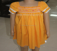 Fashion clothing with new style cotton woven fabric for children