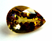 Yellow Gold Citrine Faceted Pear Cut Loose Golden Citrine Stone Gemstone Suppliers Wholesalers for Gold Jewelry