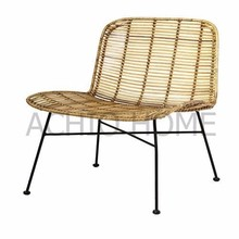 Wholesale relax rattan chair, indoor rattan chair, steel tube frame chair