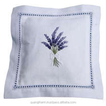 Hand embroidered lavender sachet/bag/pillow-lavender embroidery (design #27)