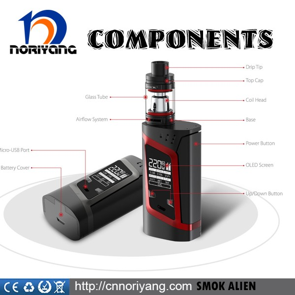 Alibaba Express Authentic Smok Alien 220W TC Mod Huge Vapor Smok Alien