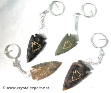 Arrowheads carved Keyring