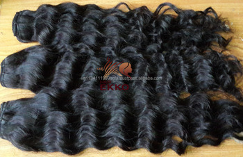 Hot sale Natural wavy black human hair weaving Remy machine weft hair Long wavy Black hair weave