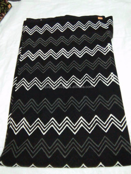 Zig Zag Printed Beautiful Indian Cotton Handmade Block Wholesale Fabric