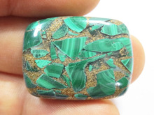 NEW Copper Malachite Natural Reconstructed Gemstone Cabochons