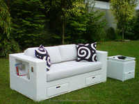 Stylish Minimalist Synthetic Rattan Bay Sofa Furniture Set (with aluminium frame)