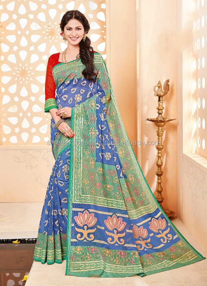 Provenance Blue Khadi Silk Saree/all types of indian sarees