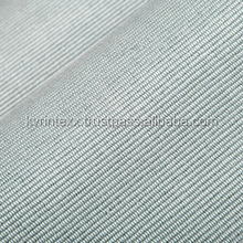 Plain Dyed Grey Color Striped Ottoman Knit Fabric