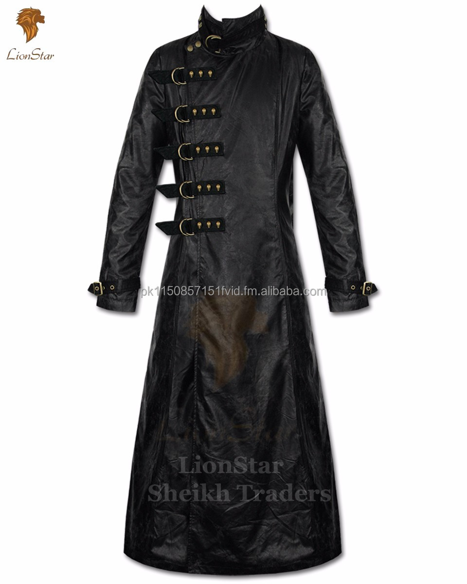 Lionstar Legend Gothic Steampunk Victorian Real Leather Long Coat