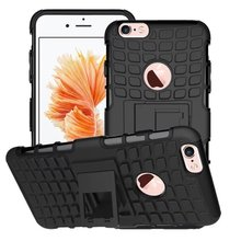 Armor Case Hybrid Kickstand Display cover for iphone 6s plus case new,For Hard PC + Soft TPU Silicone Back iphone 6s plus case