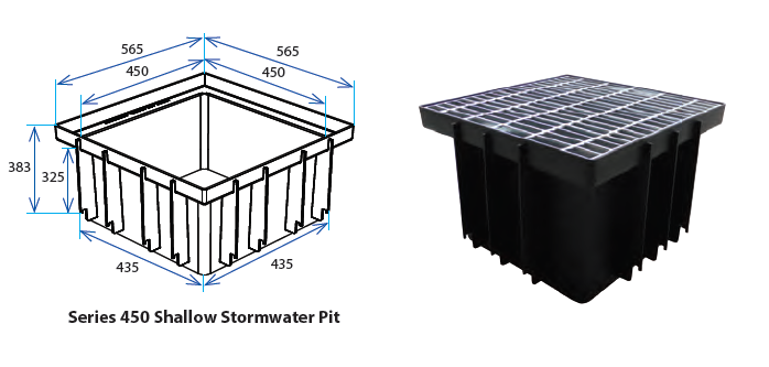 450S Stormwater Pit with Class B Grate