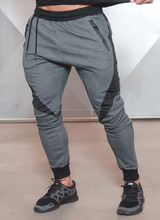 custom cotton/polyester mesh fabric fitness training men sweatpants joggers