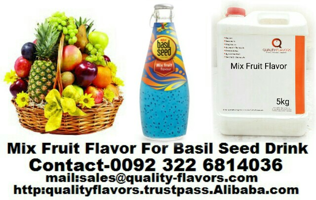 Mix Fruit Flavor For Basil Seed Drink
