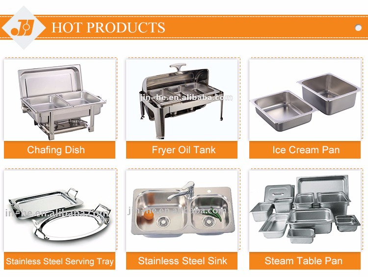 Counter-Top Style Stainless Steel Buffet Hot Food Display Showcase And Cabinet