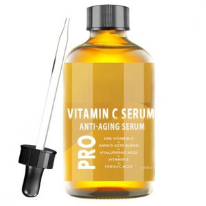 Vitamin C Serum 20% w/Hyaluronic Acid & Vit E - Anti Aging & Wrinkle Repairs Dark Circles, Fades Age Spots & Sun Damage - Enhanc