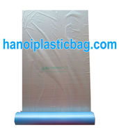 medium HDPE flat bag used in suppermarket