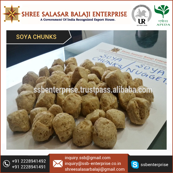 Affordable Price High Nutrition Soya Chunks for Diabetic and Heart Patients