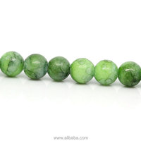 "Goldstone (Manmade) Loose Beads Round Green Crackle 5mm( 2/8"") Dia,40.5cm(16"") long,1 Strand(approx 95PCs)"