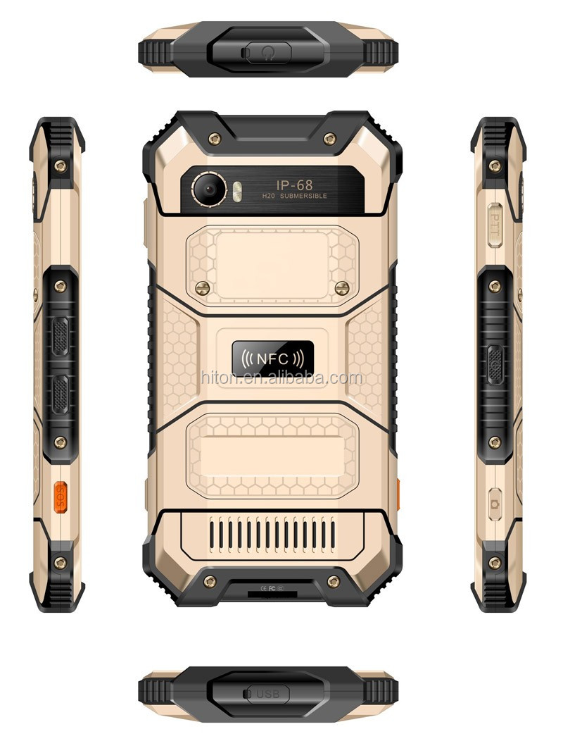 "Highton 5"" FHD 1920*1080 8-Core 4G+64G Android 6.0 PTT NFC 4G Rugged phone, rugged smart phone,4G rugged Smartphone"