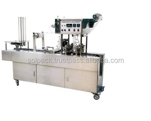 Plastic cup filling sealing machine for roll film